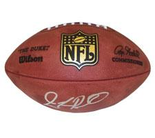 JaMarcus Russell Autographed Official Goodell NFL Game Football Image