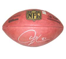 LaDainian Tomlinson Autographed Football Official Goodell NFL Game