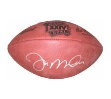 Joe Montana Autographed Football Super Bowl 24