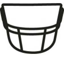 Style #1 Black Full Size Facemask by Schutt OPO