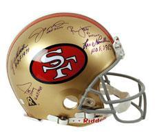 49er hall of fame autographed helmet