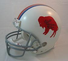 OJ Simpson Autographed Buffalo Bills Throwback Pro Line Helmet by Riddell s