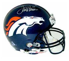 Terrell Davis Autographed Denver Broncos Pro Line NFL Helmet by Riddell