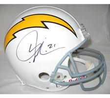 LaDainian Tomlinson San Diego Chargers White Throwback Pro Line Helmet by Riddel