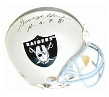 "George Blanda Autographed Oakland Raiders Pro Line Helmet by Riddell signed ""HOF"