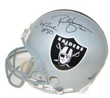 Jerry Rice & Rich Gannon Autographed Oakland Raiders Pro Line Helmet by Riddell
