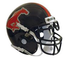 Southern Methodist University Mustangs (SMU) Full Size Authentic Helmet by Schutt Image