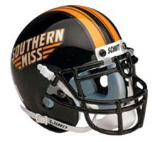 Southern Mississippi Golden Eagles Full Size Authentic Helmet by Schutt Image
