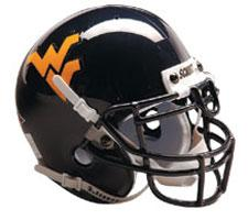 West Virginia Mountaineers Full Size Authentic Helmet by Schutt Image