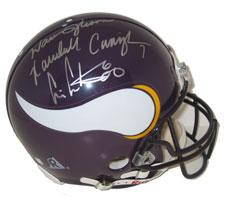 Cris Carter, Randall Cunningham & Warren Moon Autographed Minnesota Vikings Pro
