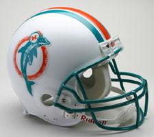Miami Dolphins Helmet 1980-96 Throwback Deluxe Replica Full Size by Riddell