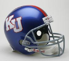 Kansas Jayhawks College Deluxe Replica Full Size Helmet by Riddell