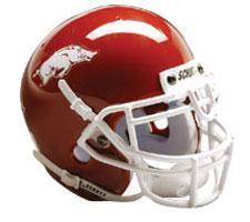Arkansas Razorbacks Replica Full Size Helmet by Schutt Image