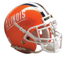 Illinois Fighting Illini Replica Full Size Helmet by Schutt Image