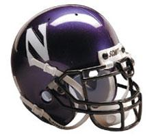 Northwestern Wildcats Replica Full Size Helmet by Schutt Image