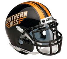 Southern Mississippi Golden Eagles Replica Full Size Helmet by Schutt Image