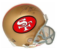 Deion Sanders Autographed Helmet San Francisco 49ers Throwback Pro Line by Ridde