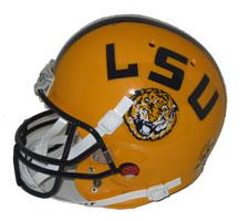Louisiana State Fighting Tigers Replica Full Size Helmet by Schutt Image