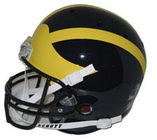 Michigan Wolverines Replica Full Size Helmet by Schutt Image