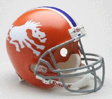 Denver Broncos Helmet 1966 Throwback Deluxe Replica Full Size by Riddell