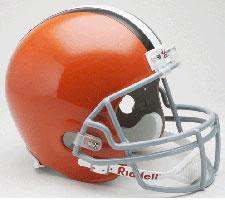 Cleveland Browns Helmet 2006-Present Deluxe Replica Full Size by Riddell