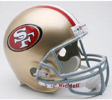 San Francisco 49ers Helmet 2009-Present Deluxe Replica Full Size by Riddell