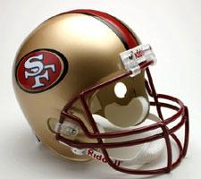 San Francisco 49ers Helmet 1996-08 Deluxe Replica Full Size by Riddell