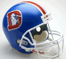Denver Broncos Helmet 1975-96 Throwback Deluxe Replica Full Size by Riddell