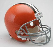 Cleveland Browns Helmet 1962-74 Throwback Deluxe Replica Full Size by Riddell