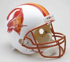 Tampa Bay Buccaneers Helmet 1976-96 Throwback Deluxe Replica Full Size by Riddel