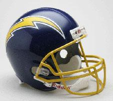 San Diego Chargers Helmet 1974-87 Throwback Deluxe Replica Full Size by Riddell
