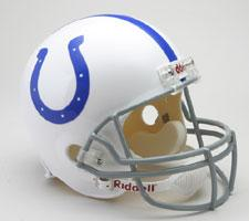 Indianapolis Colts Helmet 1959-77 Throwback Deluxe Replica Full Size by Riddell