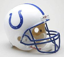 Indianapolis Colts Helmet 1995-03 Throwback Deluxe Replica Full Size by Riddell