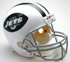 New York Jets Helmet 1965-77 Throwback Deluxe Replica Full Size by Riddell