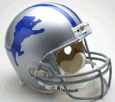 Detroit Lions Helmet 1962-68 Throwback Deluxe Replica Full Size by Riddell