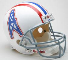 Houston Oilers Helmet 1975-80 Throwback Deluxe Replica Full Size by Riddell