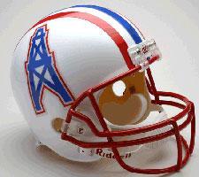 Houston Oilers Helmet 1981-96 Throwback Deluxe Replica Full Size by Riddell