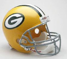 Green Bay Packers Helmet 1961-74 Throwback Deluxe Replica Full Size by Riddell