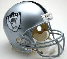 Oakland Raiders Helmet 1963 Throwback Deluxe Replica Full Size by Riddell