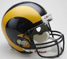 St Louis Rams Helmet 1981-99 Throwback Deluxe Replica Full Size by Riddell