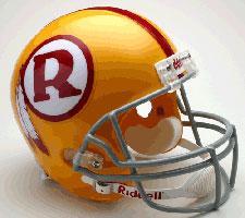 Washington Redskins Helmet 1970-71 Throwback Deluxe Replica Full Size by Riddell
