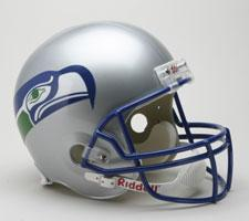 Seattle Seahawks Helmet 1983-01 Throwback Deluxe Replica Full Size by Riddell
