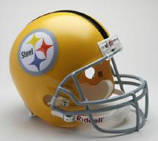 Pittsburgh Steelers Helmet 1962 Throwback Deluxe Replica Full Size by Riddell