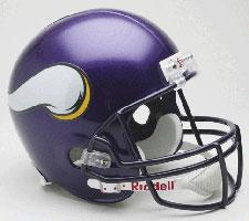 Minnesota Vikings Helmet 2006-2012 Deluxe Replica Full Size by Riddell