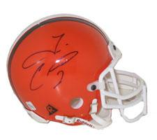 Tim Couch Autographed Cleveland Browns Authentic Mini Helmet by Riddell Image