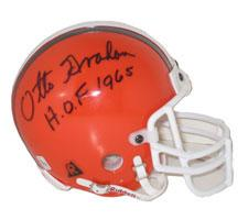 Otto Graham Autographed Helmet Cleveland Browns Throwback Authentic Mini signed