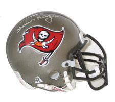 Shaun King Autographed Tampa Bay Buccaneers Authentic Mini Helmet by Riddell Image