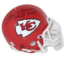 "Len Dawson Autographed Authentic Mini Helmet Chiefs signed ""SBIV MVP"""