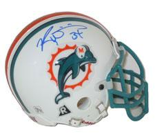 Ricky Williams Autographed Miami Dolphins Authentic Mini Helmet by Riddell Image
