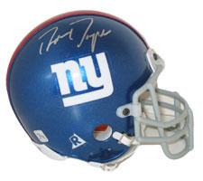 Ron Dayne Autographed New York Giants Authentic Mini Helmet by Riddell Image